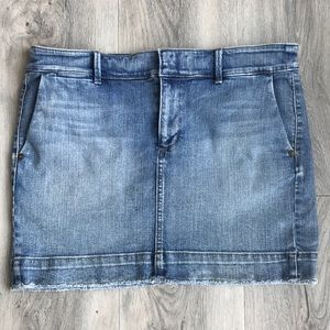 Loft Denim Mini Skirt